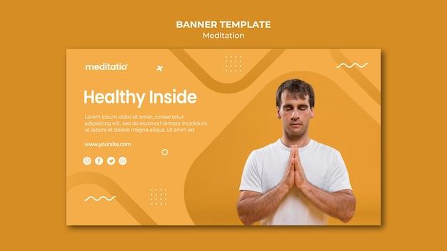 Banner template design meditation concept