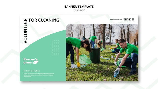 Banner template design with environment