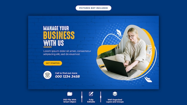 Banner template for digital business marketing on social media