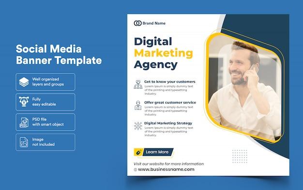 Banner template for digital marketing for social media