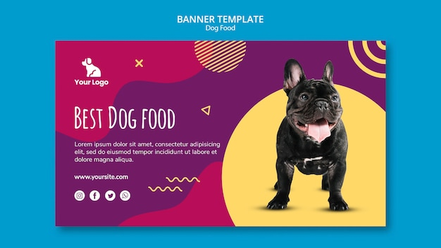 Banner template dog food