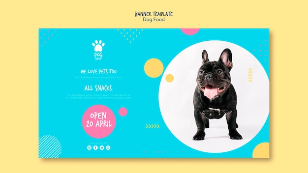 Banner template for dog shop opening