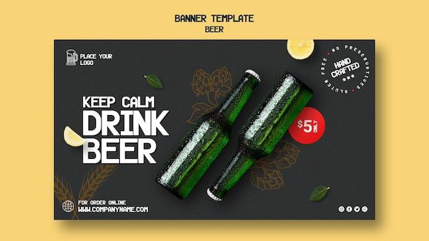 Modello di banner per bere birra