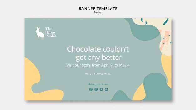 Banner template for easter day celebration