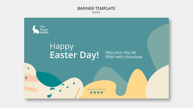 Banner template for easter day event