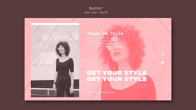 Banner template for electronic style magazine