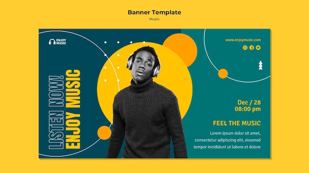 Banner template for enjoying music