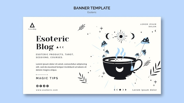 Banner template for esoteric blog