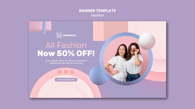 Banner template for fashion retail store