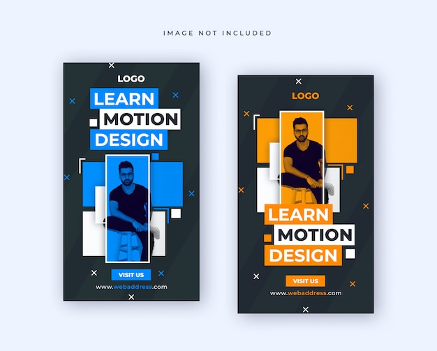 Banner template for fashion sale for social media post