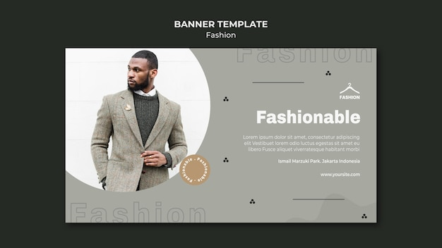 Banner template fashion store