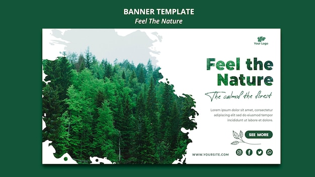 Banner template feel the nature