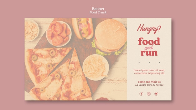 Banner template food truck