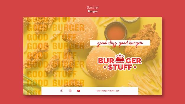 Шаблон баннера для закусочной с гамбургерами