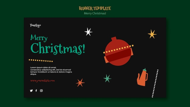 Шаблон баннера на рождество