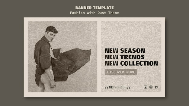 Шаблон баннера для магазина модной одежды