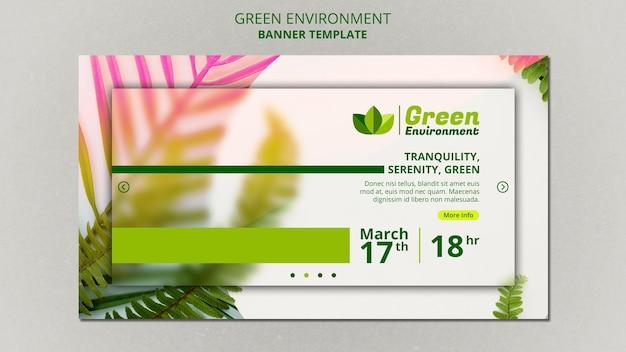 녹색 환경을위한 배너 템플릿