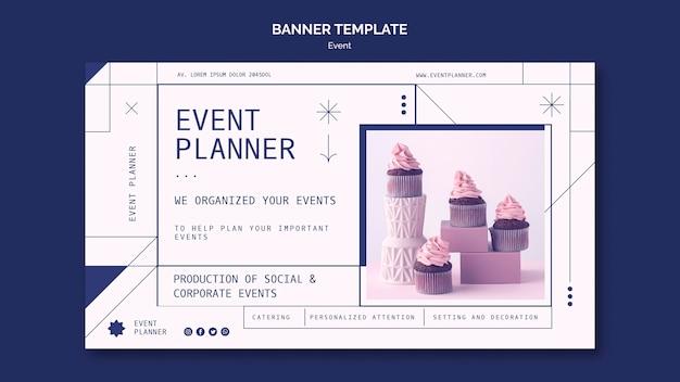 사회 및 기업 이벤트 계획을위한 배너 템플릿