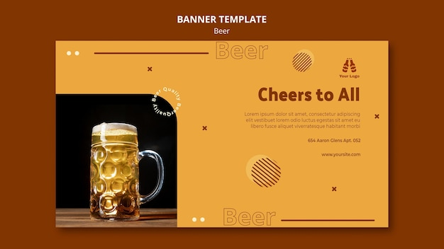 Banner template for fresh beer