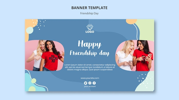 Banner template friendship day