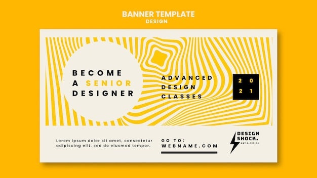 Banner template for graphic design courses
