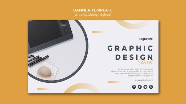 Banner template graphic design