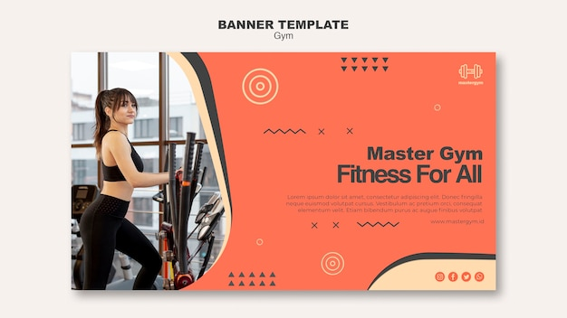 Banner template for gym activity