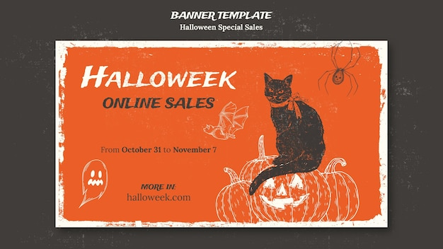 Banner template for halloweek