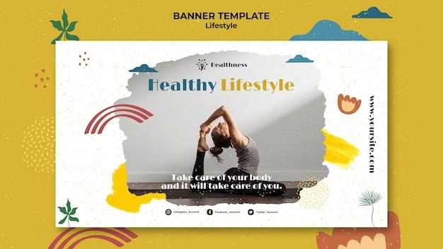 Modello di banner per uno stile di vita sano