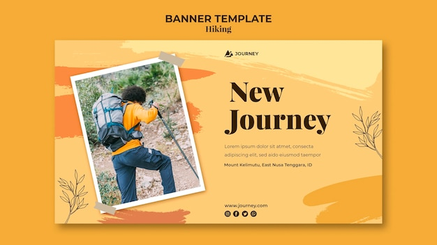 Banner template for hiking