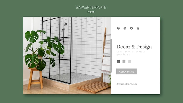 Banner template for home decor and design