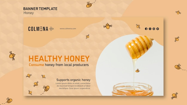 Banner template honey shop promo