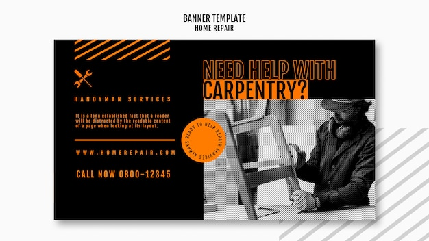 Banner template for house repair company