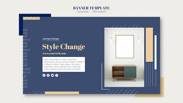 Banner template for interior design