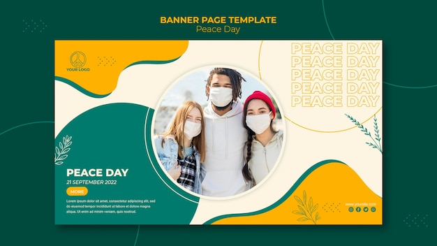 Modello di banner per la giornata internazionale della pace