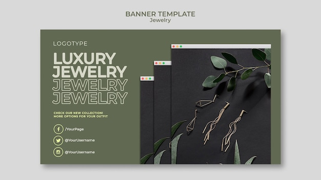 Banner template jewelry store