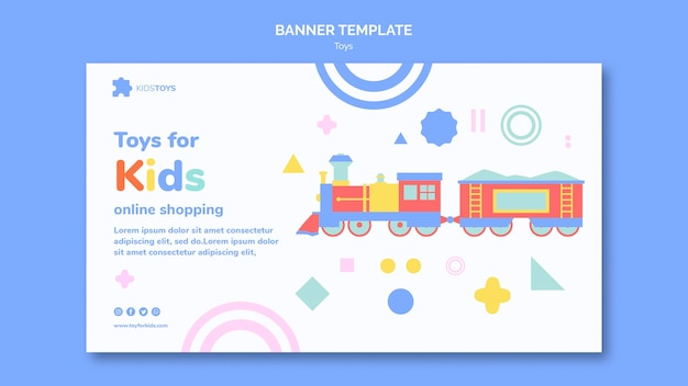Banner template for kids toys online shopping