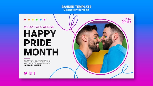 Banner template for lgbt pride