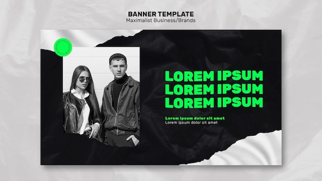 Banner template for maximalist brand