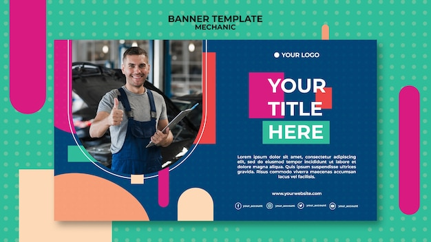 Banner template for mechanic profession