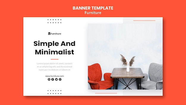 Banner template for minimalist furniture designs