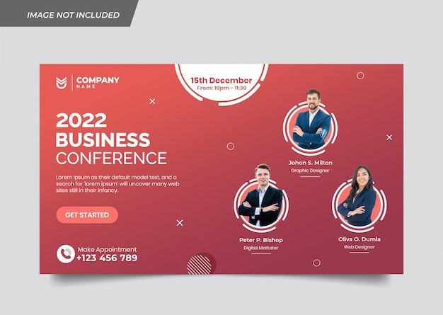 Banner template for modern business conference