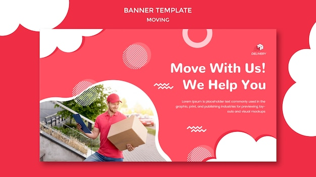 Banner template for moving company