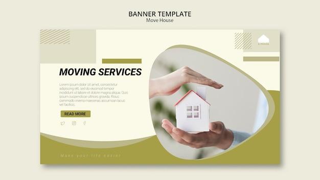 Modello di banner per servizi di trasloco