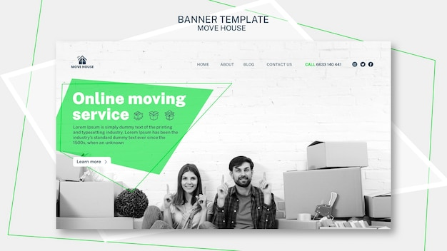 Banner template for moving service design