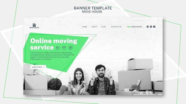 Modello di banner per la progettazione di servizi in movimento