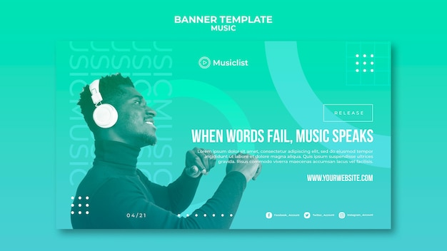 Banner template for music lovers