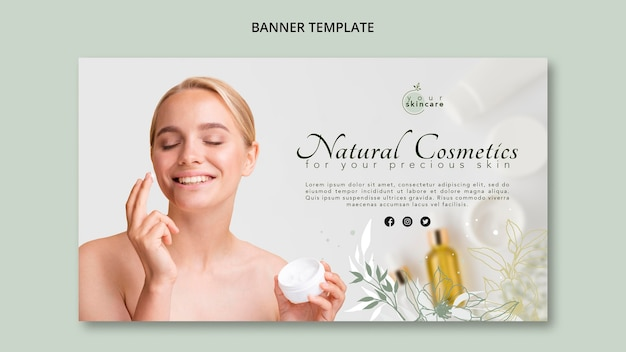 Banner template natural cosmetics shop