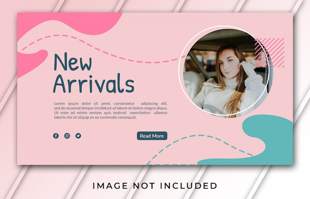 Banner template for new arrivals