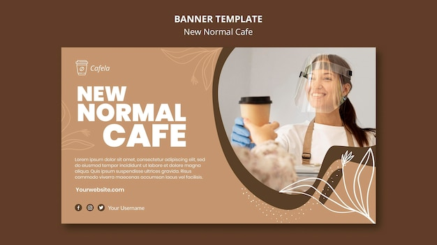 Banner template for new normal cafe